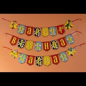 Personalized Toy Story Birthday Banner